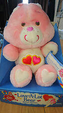 "MINT NIB NRFB Vintage Love A Lot Bear 13"" Plush Care Bear 1983 Kenner"