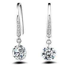 Damen Schmuck Silber Kristall Hoop Dangle Ohrring Stud Schmuck Geschenk