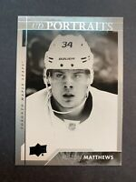 2017-18 Upper Deck Series 1 UD Portraits #P-50 Auston Matthews Toronto 2nd Year