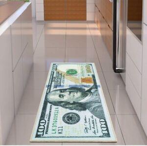 100 Dollar Bill  22 x 53 inch Non-Slip Area Rug Runner.