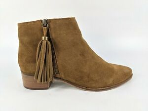Schuh Brown Suede Leather Ankle Boots Uk 8 Eu 41