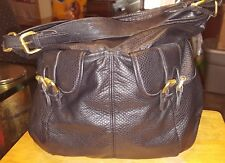 Olivia and Joy N.Y. purse black size large 100% vinyle pebbled 6 compartments