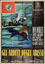 MANIFESTO, GLI ARDITI DEGLI ABISSI Underwater Warrior DAN DAILEY, SUB, POSTER
