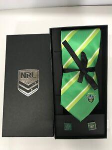 NRL Canberra Raiders Tie & Cufflinks Gift set FREE SHIPPING