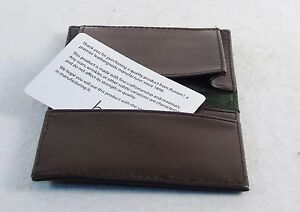 Buxton Business Card Wallet ~ Chocolate Brown, Faux Leather, NICE!