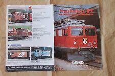 Dépliant BEMO 1989 Modellbahnen HO SBB-CFF Rhatische Bahn neuheiten OBB DB