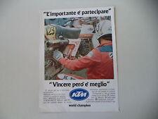 advertising Pubblicità 1979 MOTO KTM 125