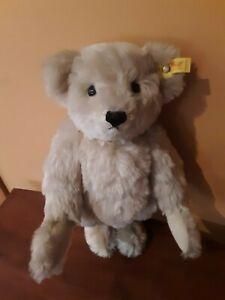 """❤️STEIFF Giengen Teddy Bear 16½"""" Gray Jointed 0167/42 1985-89 Mohair"""