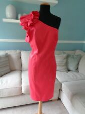 ⭐ Red Herring Special Edition Coral One Shouler Frill Dress Size 14