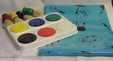 CRAFT SET PAINTS STUBBY BRUSHES PALETTES TABLE COVER  CHILDREN PAINT