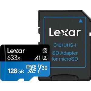 US Seller High-Performance Lexar 128GB 128 GB 95MB/s 633x Micro SD SDXC MicroSD
