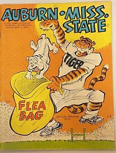 1967 Auburn vs Mississippi State Football Program