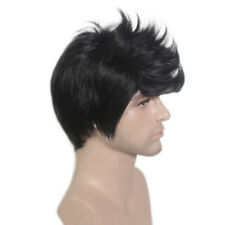 Korean Boys Full Wig Short Black Men's Male Hair Cosplay Wigs Costume 20 cm