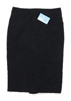 Marks & Spencer Womens Size 10 Wool Blend Black Pencil Skirt (Regular)