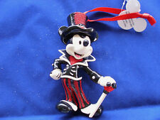 Disney * MICKEY - TOP HAT & CANE * New Resin Holiday Ornament