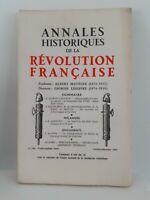 Rivista Annali Storici Della Revolution Francaise Ott - Dic 1965 N° 182