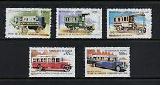 N691  Guinea 1995  Historic Buses  transport  5v.    MNH