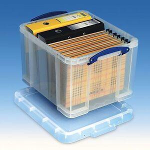 Really Useful Box 35 Liter – für A4-Ordner & Hängemappen - Hängemappenbox