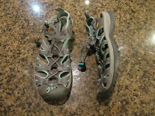 KEEN women's Whisper canvas Sandals 5 waterproof hiking trail Gray sport