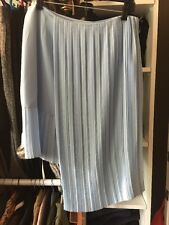Christian Dior Baby Blue Pleated Skirt Sz 42 NWT $2350.00