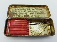 More details for international twist drill vintage tin box with 2 drill bits