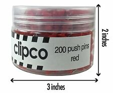 Clipco Push Pins Jar (200-Count) (Red)