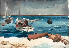Winslow Homer Watercolor Reproductions: Nassau: Fine Art Print