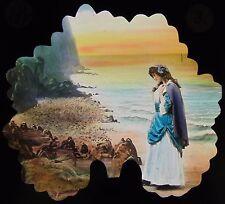 BAMFORTH Glass Magic Lantern Slide THE PROMISE OF LIFE NO8 C1910 EDWARDIAN LADY
