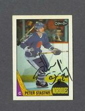 Peter Stastny signed Quebec Nordiques 1987-88 Opee Chee hockey card