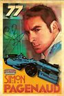 2014 SIMON PAGENAUD signed INDIANAPOLIS 500 PHOTO CARD POSTCARD INDY CAR hero wC