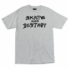 Thrasher Skate And Destroy Skateboard Shirt Ash Med