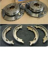 MG ZT 190 160 VENTED REAR BRAKE DISC PAD HB SHOES