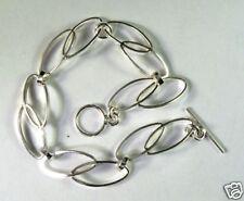 Mexican 925 sterling silver oval link bracelet