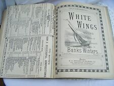 LARGE 19th CENTURY BOUND BOOK ANTIQUE SHEET MUSIC -35 songs
