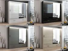 Sliding Door Mirror Wardrobe DAKO 4 with LED - Multiple colours and sizes