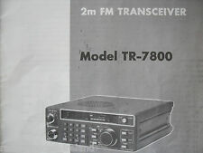 Kenwood Tr-7800 (Genuino Manual sólo)............ radio_trader_ireland.