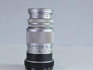 LEICA SCREW LTM M39 ELMAR 9CM F4 90MM VINTAGE PORTRAIT LENS