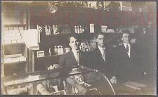 Vintage Photo 3 Men in Bookstore Cigars Concordia College Illinois 741732