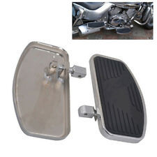 Pair Black Mini Floorboards For Honda Front or Rear Mount Foot Boards