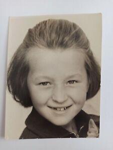 Beautiful smiling girl. Soviet Vintage Photo USSR