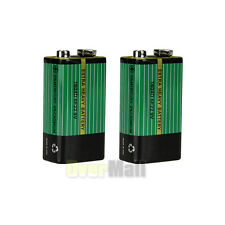 2pcs 9V Carbon Battery Powerful Cell Extra Heavy Battery For Electronic Devices