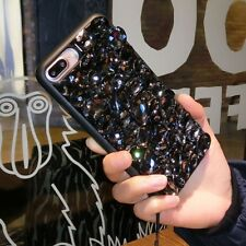 NEW DELUX COOL LUXURY BLING BLACK DIAMANTE CASE 4 VARIOUS MOBILE PHONES 6 7 8 9