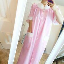 Vintage pink whie polka dot cotton robe bust 43
