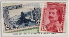 1917 Bosnia-Herzegovina Start Of  WWI Postage Stamps1930s Trade Ad Card