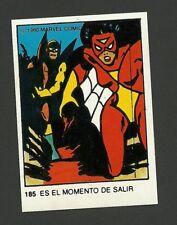 Spider-Woman 1980 Marvel Comics Spanish Chocolate Card #185