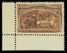 US #234; 5¢ COLUMBIAN, XF-OG-NH, GEM QUALITY JUMBO SINGLE, PF GRADED (90J) CERT