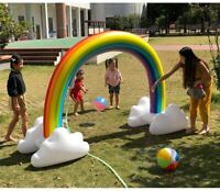 Huge Big Portable Outdoor Rainbow Inflatable children kids Water Sprinkler Toys