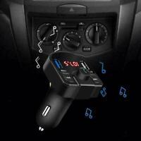 Auto USB Wireless Bluetooth Ladegerät FM Sender Radio Adapter Neu MP3 F6T4 E3W2