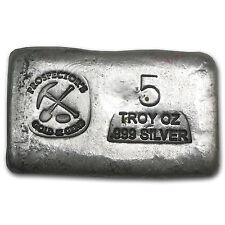 5 oz Prospector's Gold & Gems Silver Bar - Poured Silver Bar - SKU #61420
