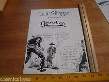 Gunslinger 1980s Original Punk Rock concert poster Goodies Fullerton Ca